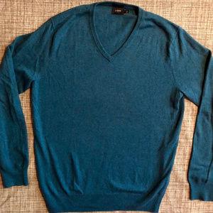 J. Crew cotton v-neck sweater slim fit